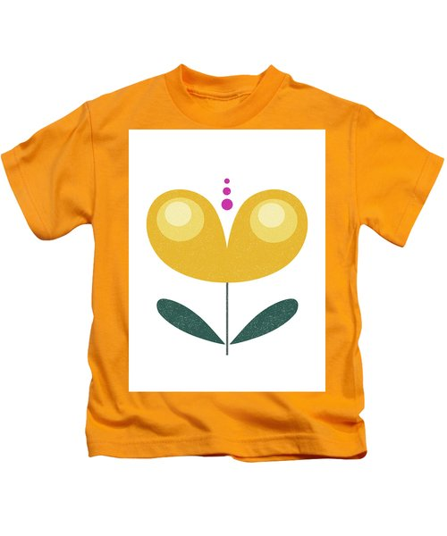 Scandinavian Yellow Flower Kids T-Shirt