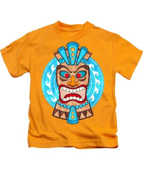Screaming Tiki Head Kids T-Shirt