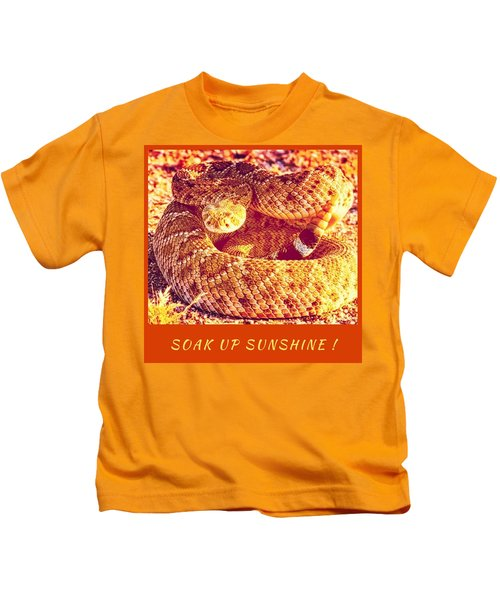 Kids T-Shirt featuring the photograph Soak Up Sunshine by Judy Kennedy