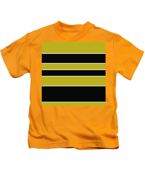 Stacked - Gold, Black And White Kids T-Shirt
