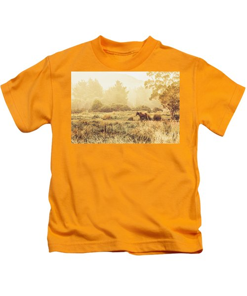Stallion Homestead Kids T-Shirt