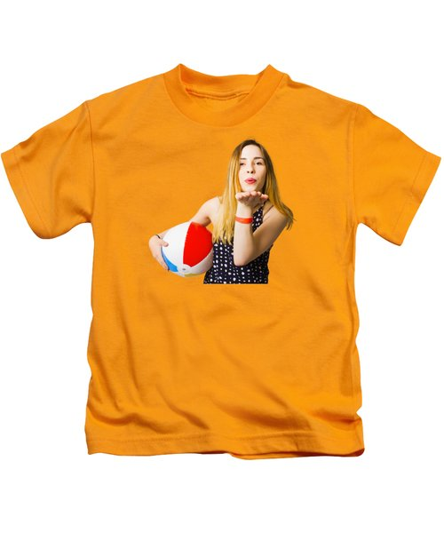 Summer And Beach Love Kids T-Shirt