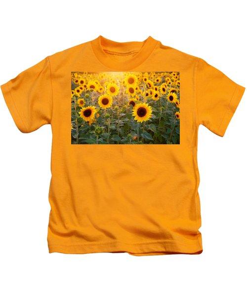Sunflowers Field Kids T-Shirt