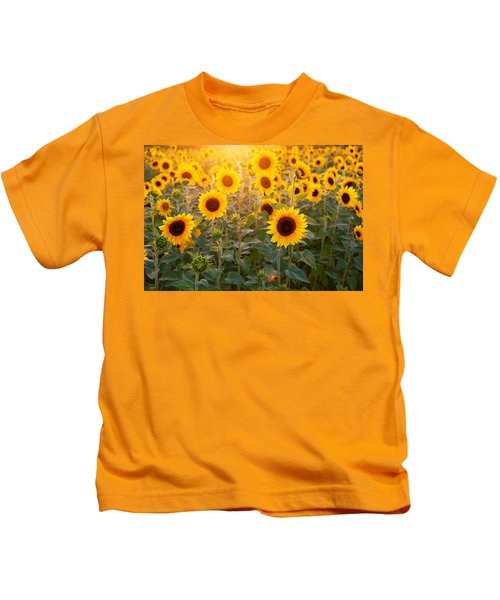 Sunflowers Field Kids T-Shirt