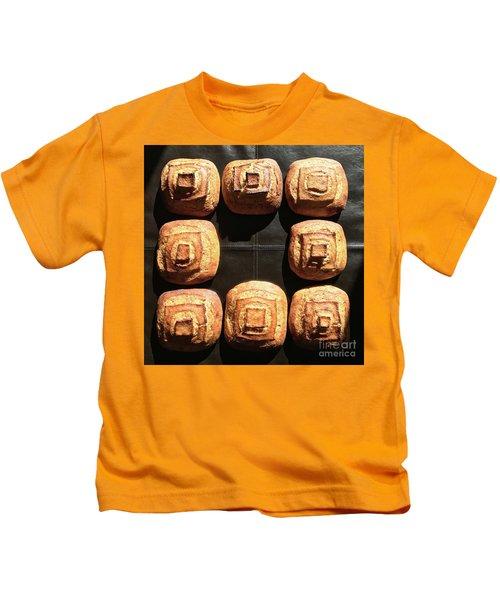 Sunny Sourdough Squares Kids T-Shirt