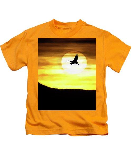 Sunset Flyway Kids T-Shirt