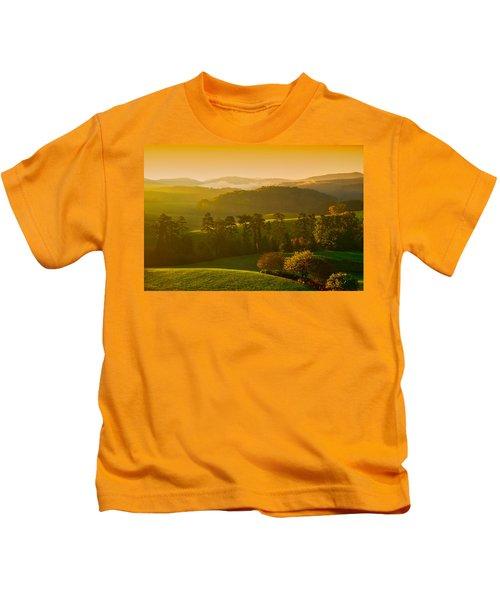 Smokey Mountain Sunrise Kids T-Shirt