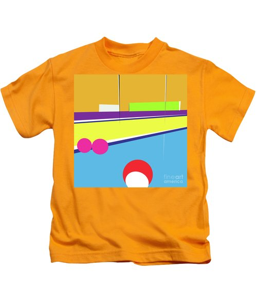 Tennis In Abstraction Kids T-Shirt