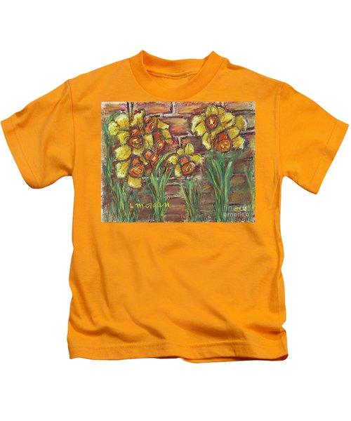 Two Toned Daffodils Kids T-Shirt
