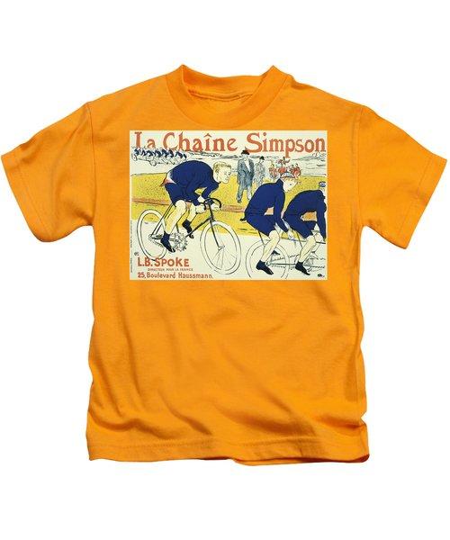 Vintage Poster - La Chaine Simpson Kids T-Shirt