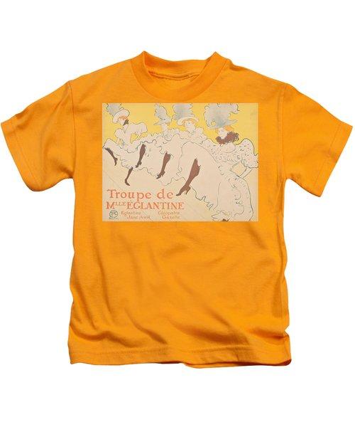 Vintage Poster - Troupe De Mlle Eglantine Kids T-Shirt