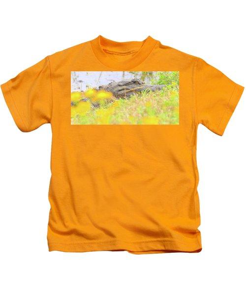 Wild Alligator In Spring Kids T-Shirt