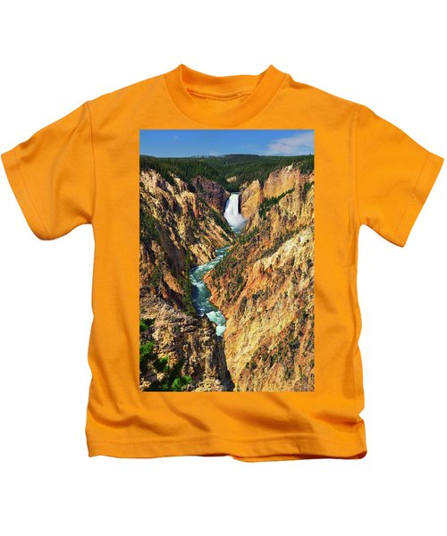 Yellowstone Grand Canyon From Artist Point Kids T-Shirt