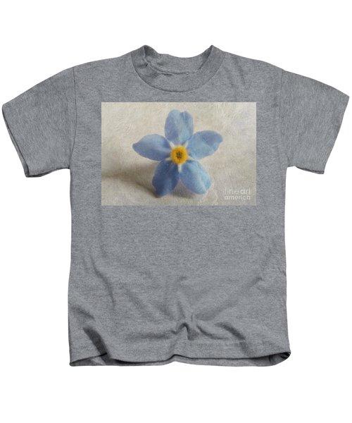Myosotis 'forget-me-not'- Single Flower Kids T-Shirt