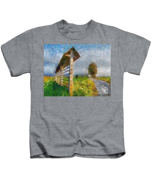 Country Road With Hayrack Kids T-Shirt