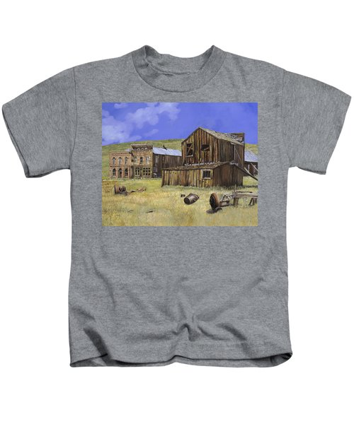 Ghost Town Of Bodie-california Kids T-Shirt