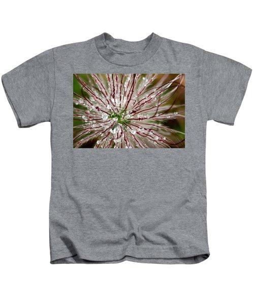 Abstract Macro Flower Head Kids T-Shirt