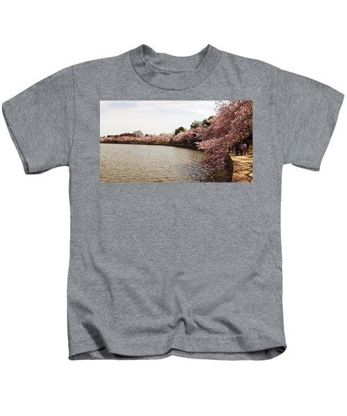 Cherry Blossom Trees At Tidal Basin Kids T-Shirt
