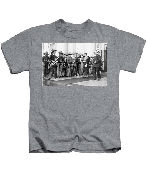 Cowboy Band, 1929 Kids T-Shirt by Granger