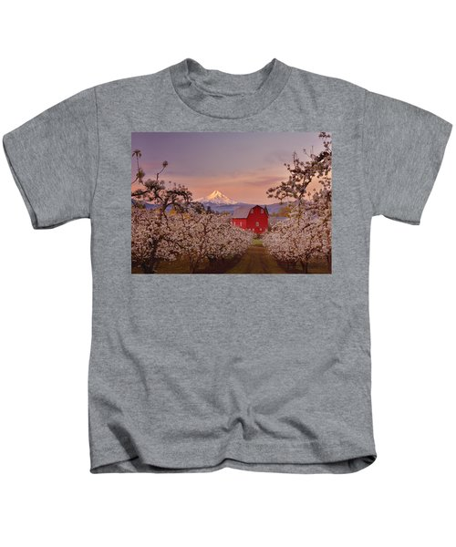 Hood River Sunrise Kids T-Shirt