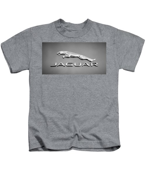 Kids T-Shirt featuring the photograph Jaguar F Type Emblem by Jill Reger