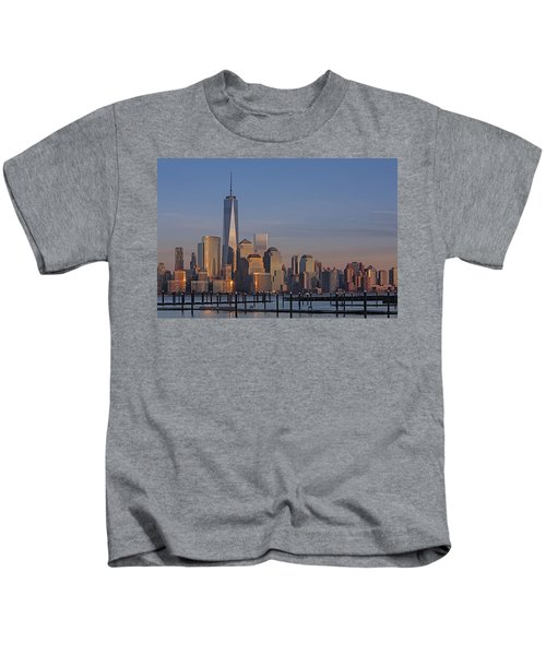 Lower Manhattan Skyline Kids T-Shirt