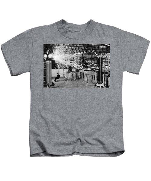 Nikola Tesla Serbian-american Inventor Kids T-Shirt