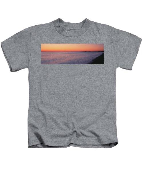 Ocean At Sunset, Provincetown, Cape Kids T-Shirt