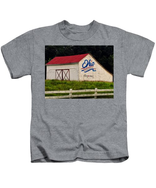 Ohio Bicentennial Barn Kids T-Shirt