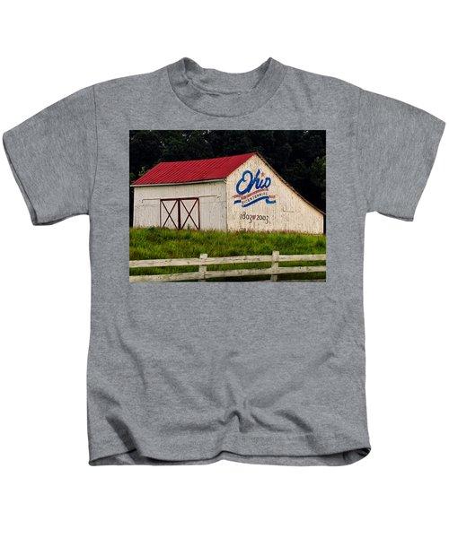 Ohio Bicentennial Barn Kids T-Shirt