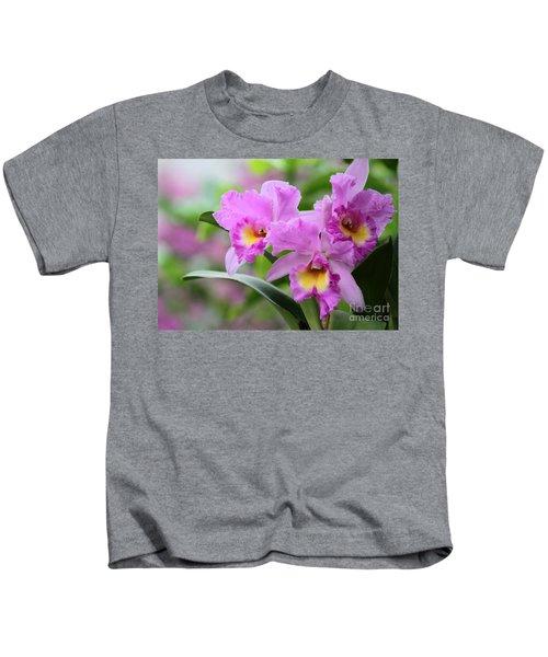 Pink Orchids Kids T-Shirt