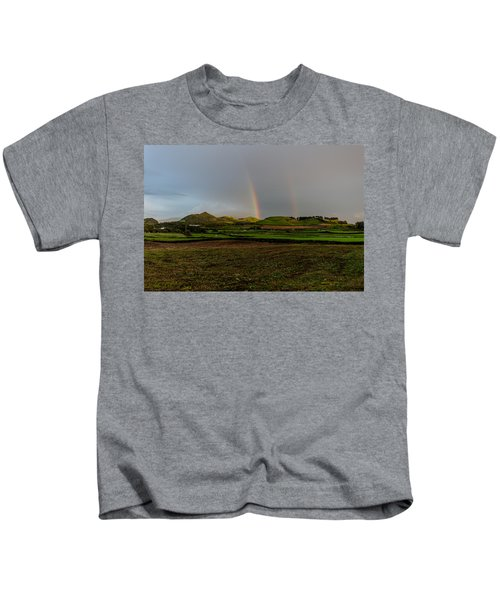 Rainbows Over The Mountain Kids T-Shirt