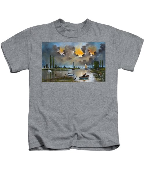 River Yare On The Broads Kids T-Shirt