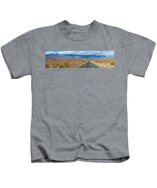 Road Passing Through A Desert, Death Kids T-Shirt by Panoramic Images