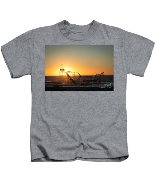 Roller Coaster Sunrise Kids T-Shirt