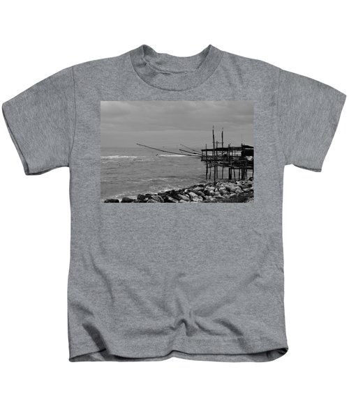 Trabocco On The Coast Of Italy  Kids T-Shirt