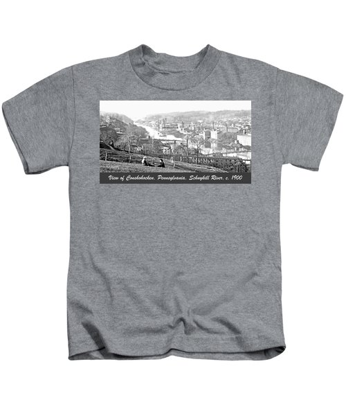 View Of Conshohocken Pennsylvania C 1900 Kids T-Shirt