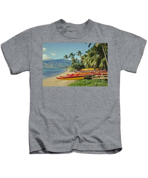 Kenolio Beach Sugar Beach Kihei Maui Hawaii  Kids T-Shirt