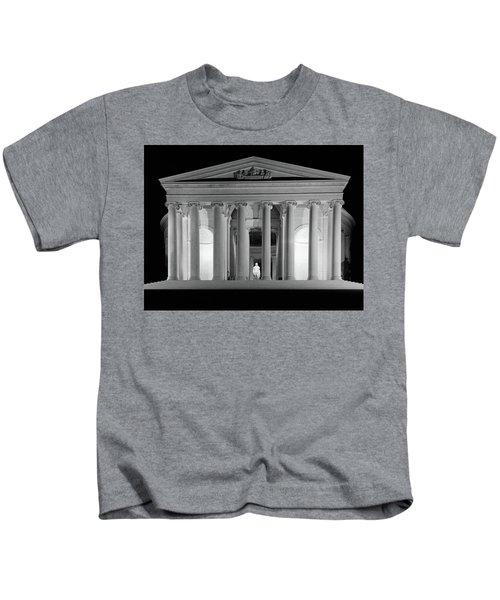 1960s Thomas Jefferson Memorial Lit Kids T-Shirt