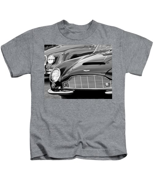 Kids T-Shirt featuring the photograph 1965 Aston Martin Db6 Short Chassis Volante by Jill Reger
