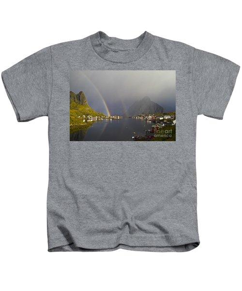 After The Rain In Reine Kids T-Shirt