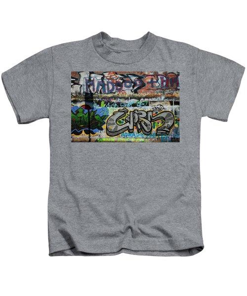 Artistic Graffiti On The U2 Wall Kids T-Shirt