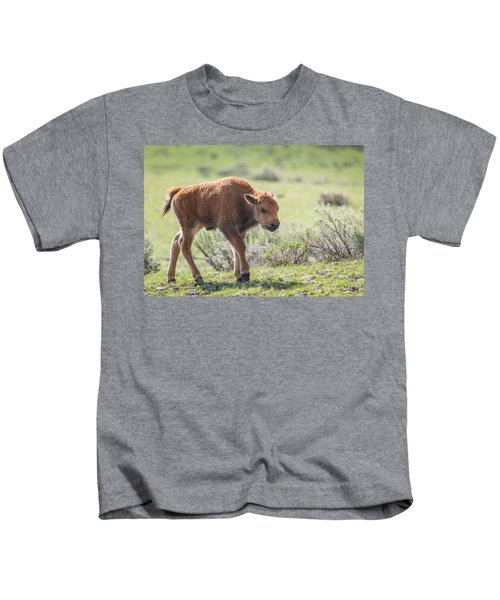 Bison Calf Kids T-Shirt