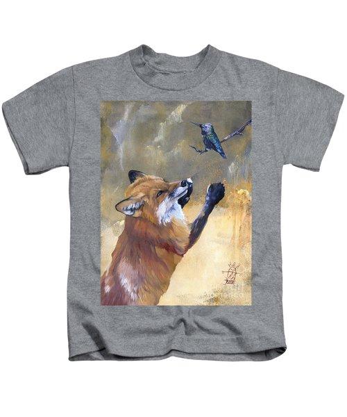 Fox Dances For Hummingbird Kids T-Shirt