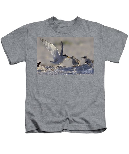 Least Tern Feeding It's Young Kids T-Shirt