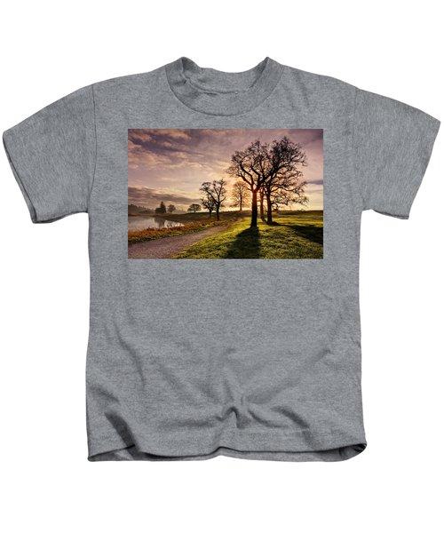 Winter Morning Shadows / Maynooth Kids T-Shirt