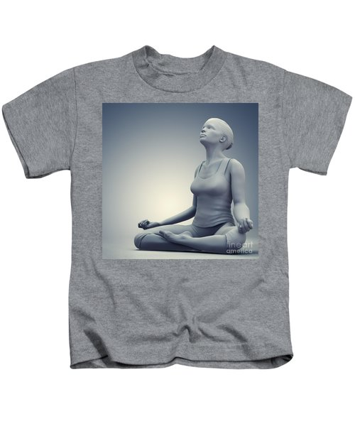 Meditation Pose Kids T-Shirt