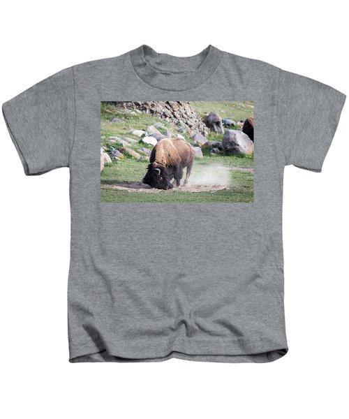Yellowstone Bison Kids T-Shirt