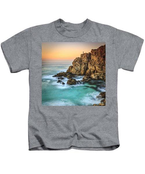 Penencia Point Galicia Spain Kids T-Shirt