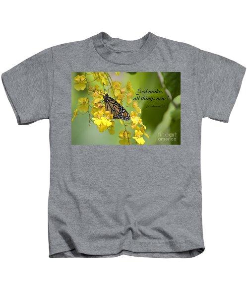 Butterfly Scripture Kids T-Shirt